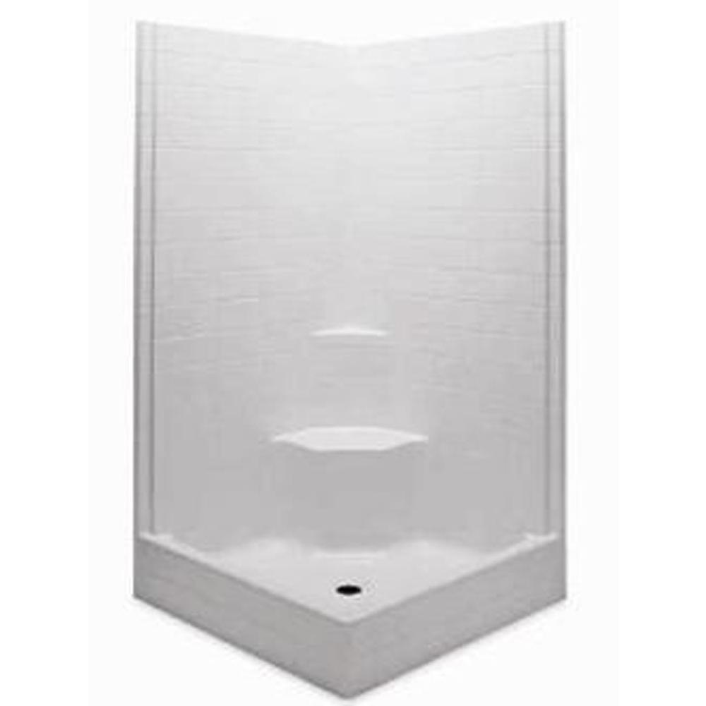 Aquatic Corner Shower Enclosures item 1422STS-BO