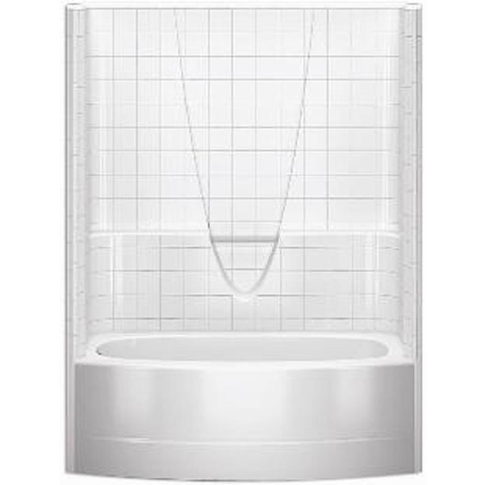 Aquatic Three Wall Alcove Whirlpool Bathtubs item 6036BSTMRWP-AL