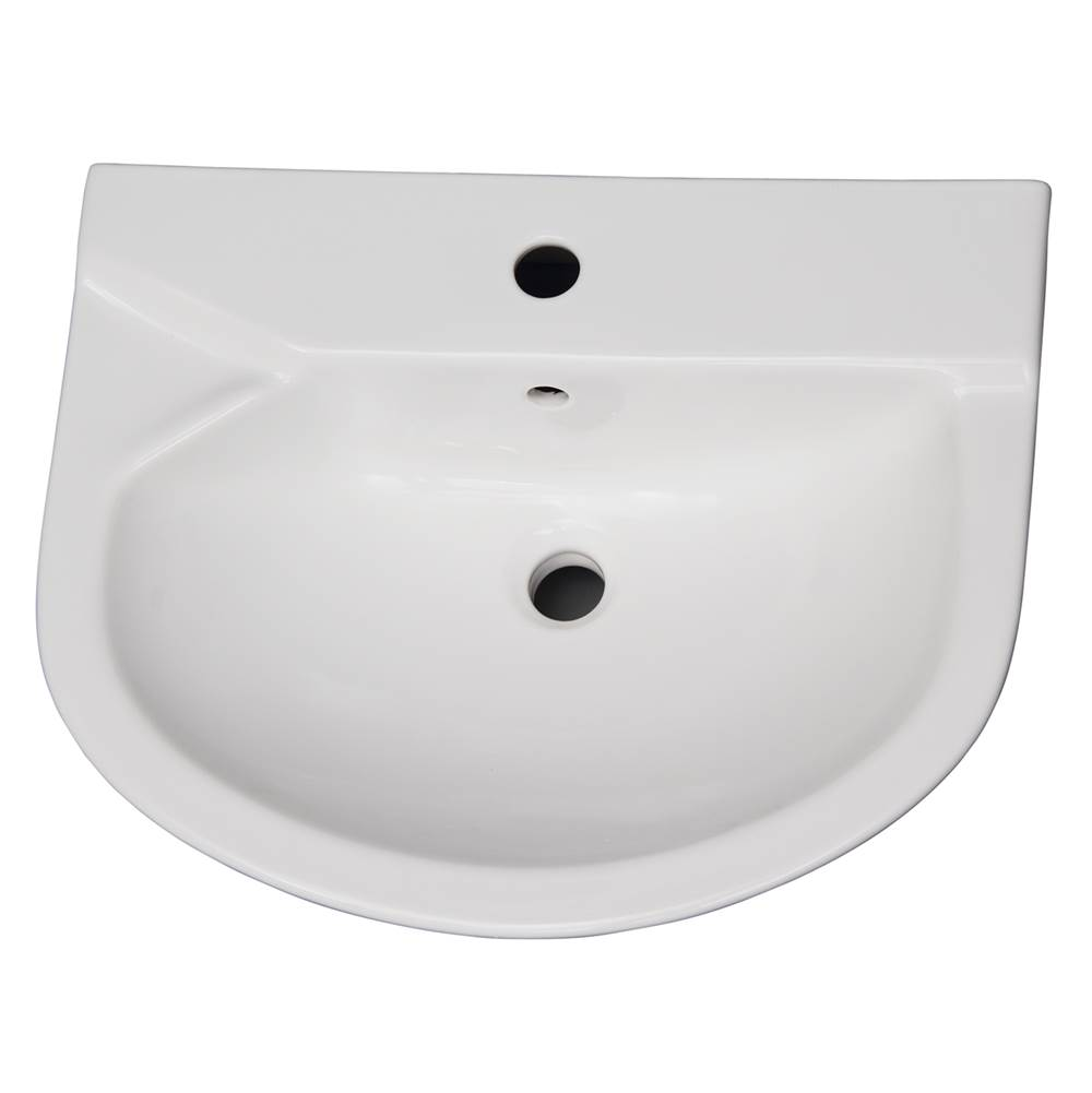 Barclay Vessel Only Pedestal Bathroom Sinks item B/3-421WH