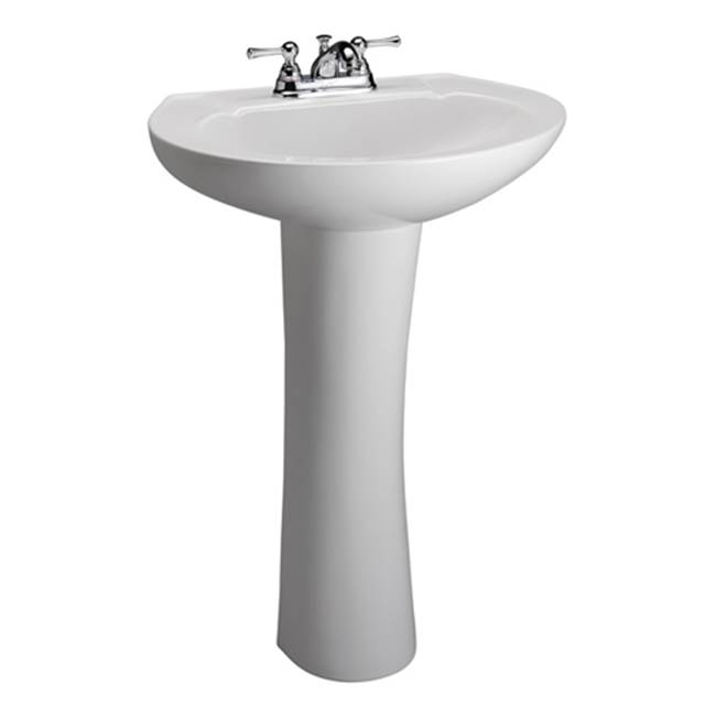 Barclay Complete Pedestal Bathroom Sinks item 3-202WH