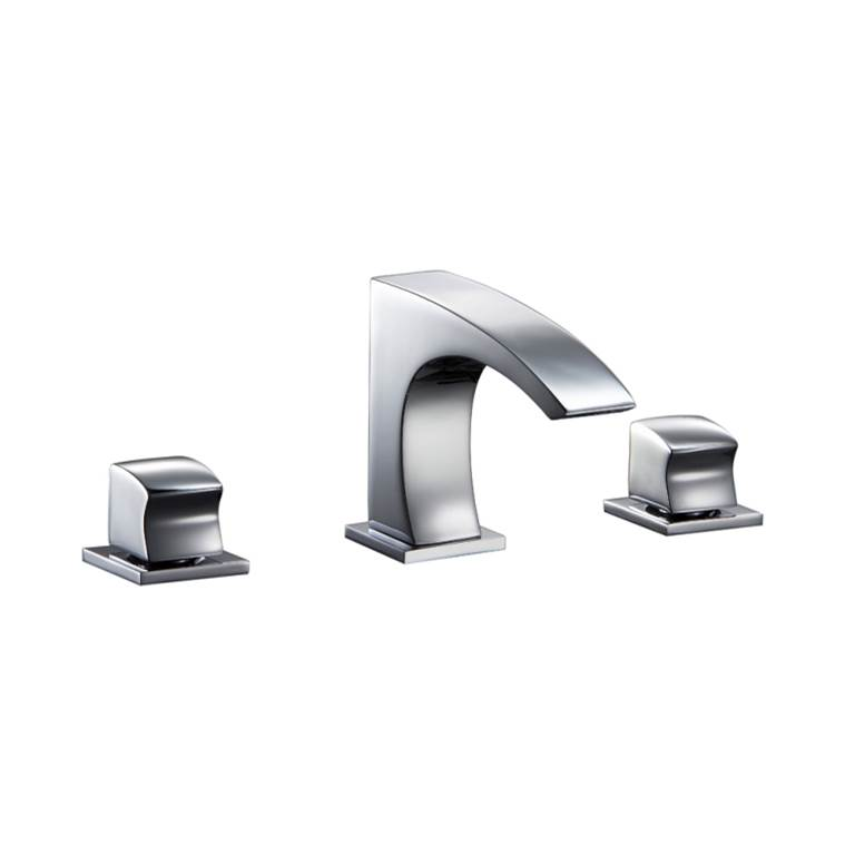 Dawn AB16 1513BN 3-Hole Brushed Nickel Dawn Kitchen /& Bath Products Inc. 2-Handle Widespread Lavatory Faucet