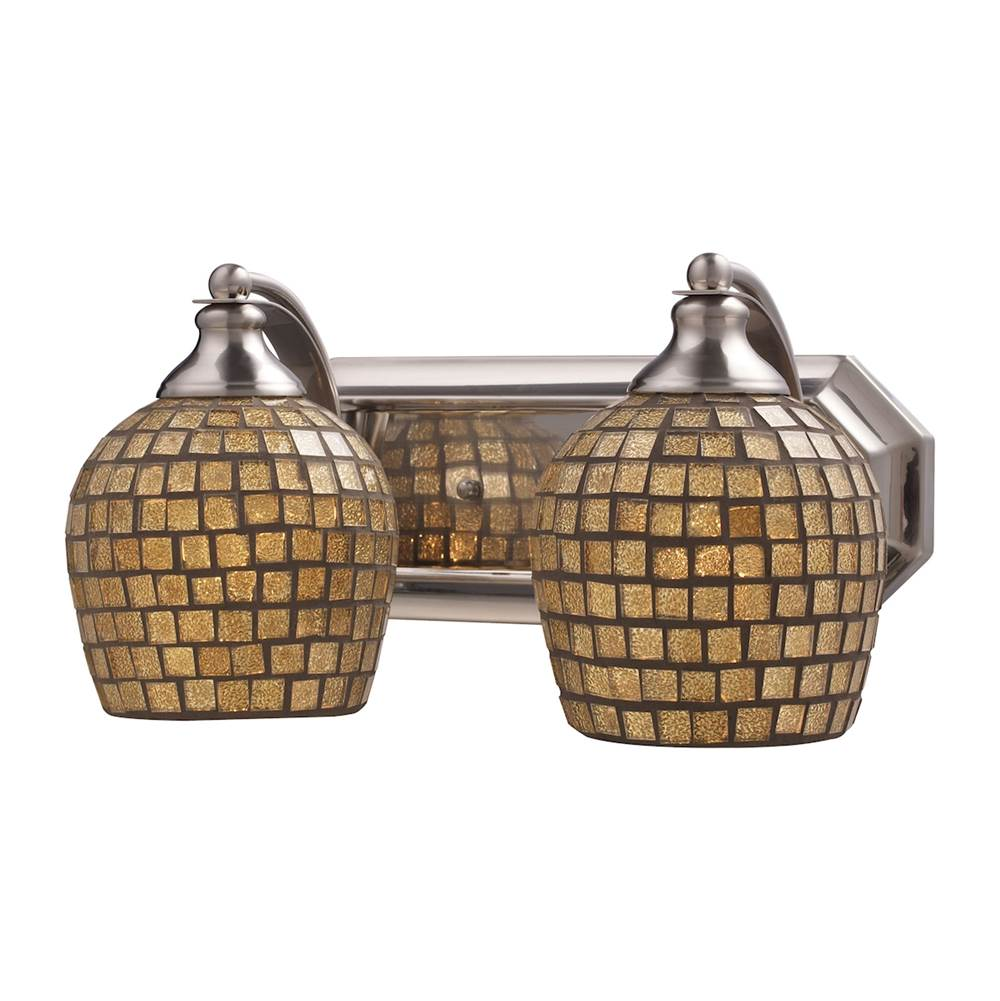 Elk Lighting Two Light Vanity Bathroom Lights item 570-2N-GLD