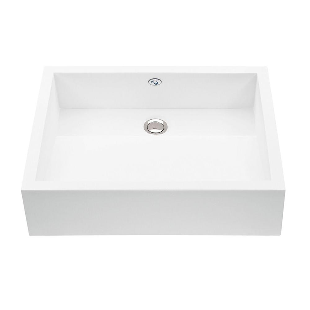 MTI Baths Vessel Bathroom Sinks item MTCS712-WH-GL
