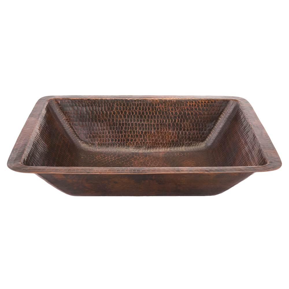 Premier Copper Products Undermount Bathroom Sinks item LREC19DB